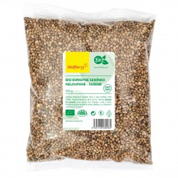 Konopné semienko nelúpané BIO 500 g Wolfberry