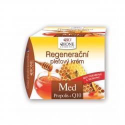 Regenerační pleťový krém MED + propolis + Q10 51 ml Bione Cosmetics