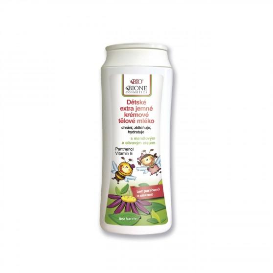 Dětské extra jemné krémové tělové mléko 200 ml Bione Cosmetics
