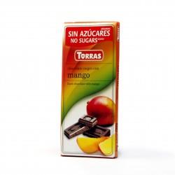 Hořká čokoláda s mangem 75g Torras