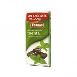 Hořká čokoláda s mátou 75g Torras