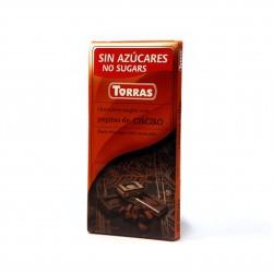 Hořká čokoláda s kakao boby 75g Torras