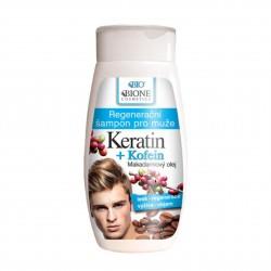 Regenerační šampon pro muže Keratin + Kofein 260 ml Bione Cosmetics