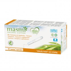 Tampóny z organické bavlny s aplikátorem Super Plus Masmi