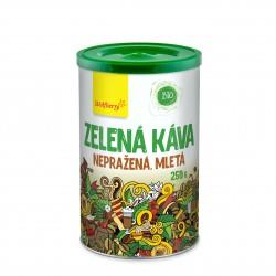 Zelená káva nepražená, mletá BIO 250 g Wolfberry