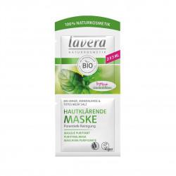 Čistící pleťová maska BIO máta, sůl z mrtvého moře a minerální jíl 2 x 5 ml Lavera