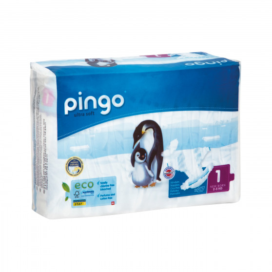 Jednorázové ekologické pleny pro děti 2-5 kg Pingo