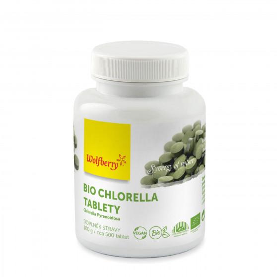 Chlorella BIO 100 g 500 tbl Wolfberry - doplněk stravy