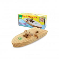 Dřevěná loďka na gumičkový pohon Čisté Dřevo