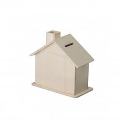 Dřevěný domeček pokladnička Čisté Dřevo