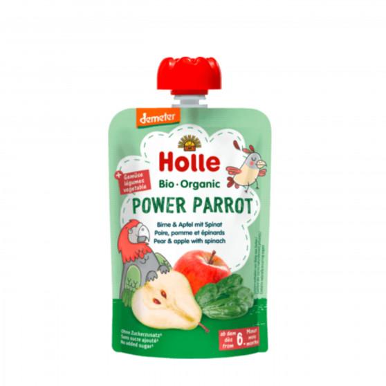 Ovocné pyré - hruška, jablko, špenát BIO pro děti 100 g Holle