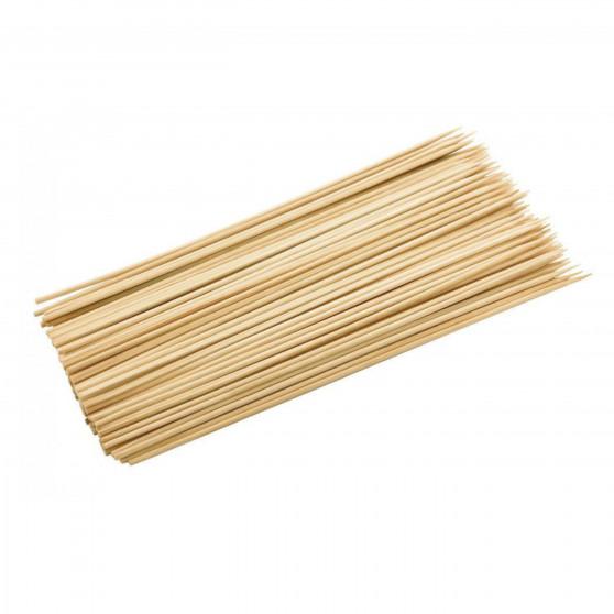 Dřevěné špejle 30 cm hrocené 100 ks Čisté dřevo