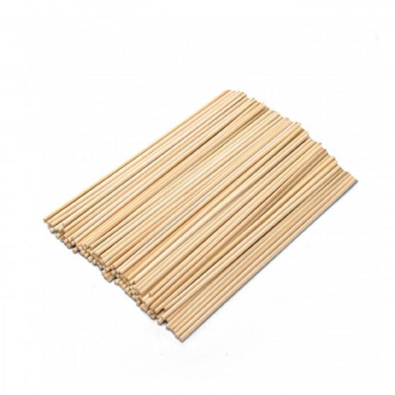 Dřevěné špejle 30 cm 100 ks Čisté dřevo