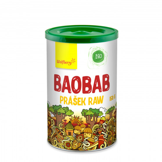 Baobab prášok BIO 150 g Wolfberry