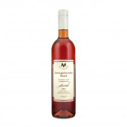 Zweigeltrebe Rosé víno pozdní sběr suché 2017 BIO 0,75l vinařství Marcinčák