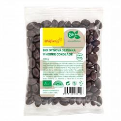 Tekvicové semienka v horkej čokoláde BIO 100 g Wolfberry