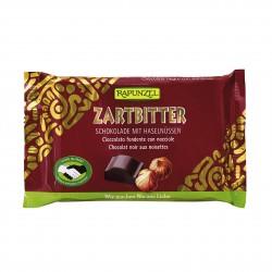 Čokoláda horká s lieskovými orieškami BIO 100 g Rapunzel