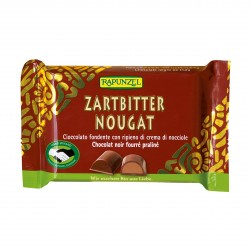 Čokoláda horká s orieškovou náplňou BIO 100 g Rapunzel
