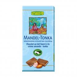 Čokoláda mliečna s náplňou Mandle Tonka BIO 100 g Rapunzel